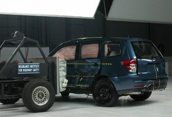 Результат краш-теста Subaru Forester на боковой удар