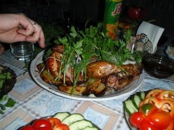 Да и курочка с картошечкой из тандыра - оч. вкусные!